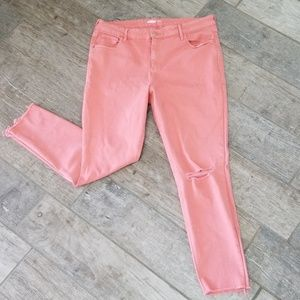 Old Navy Rockstar Super Skinny Coral jeans Size16